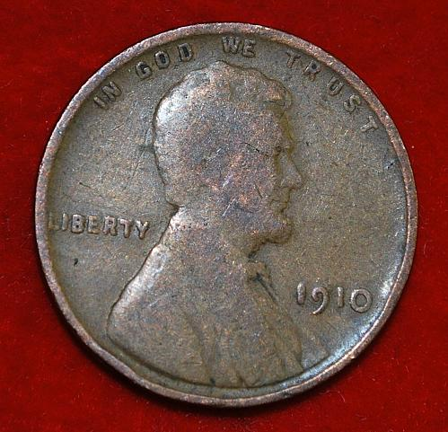 1910 P Lincoln Wheat Cent Small Cents