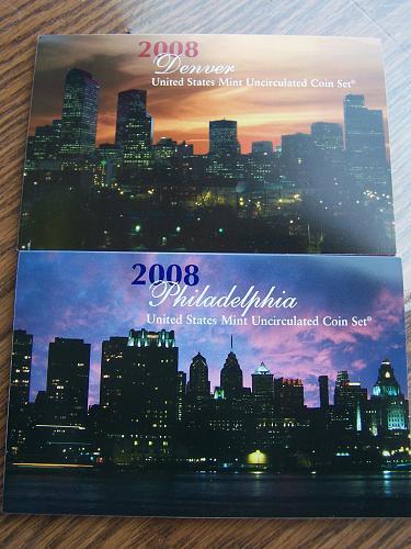 2008 PD Uncirculated Mint Sets