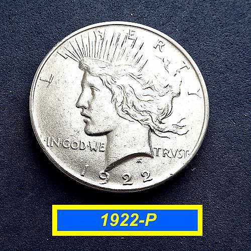 1922-P PEACE Dollar  ☆ 90% Silver     (#5578)a