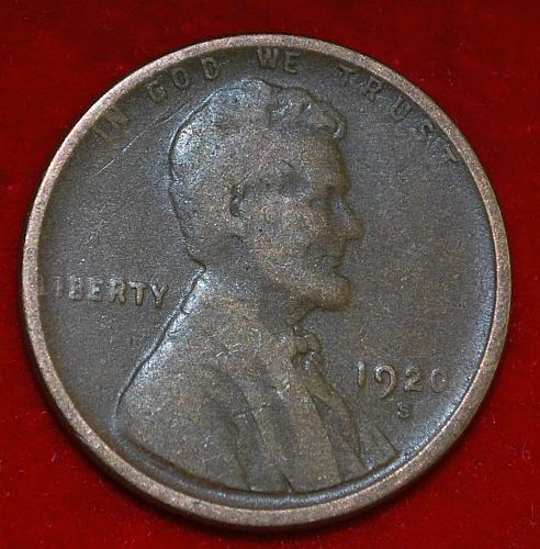 1920 S Lincoln Wheat Cent Small Cents