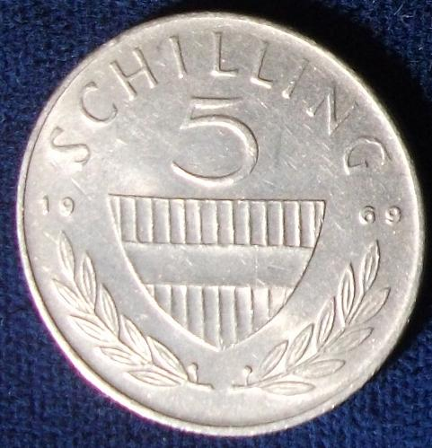 1969 Austria 5 Schilling XF