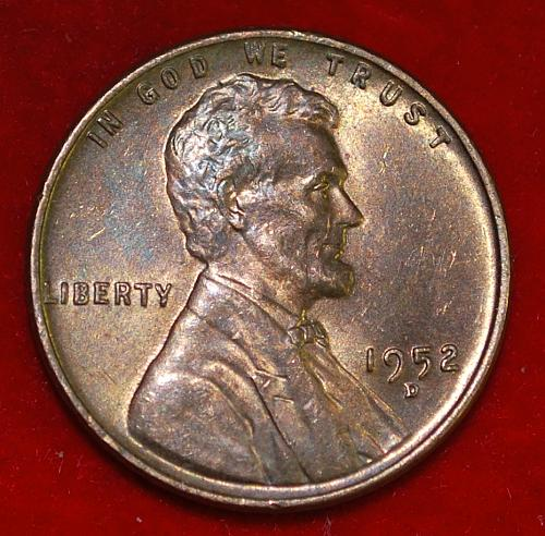 1952 D Lincoln Wheat Cent Small Cents