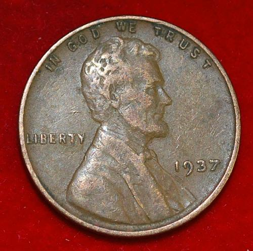 1937 P Lincoln Wheat Cent Small Cents
