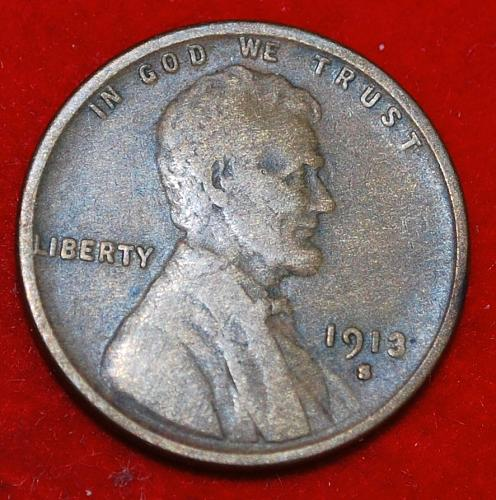 1913 S Lincoln Wheat Cent Small Cents