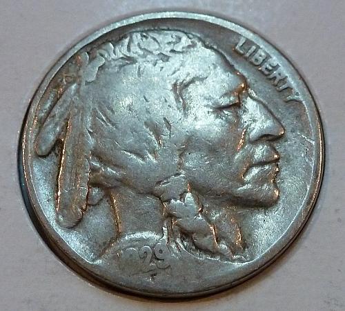1929 P Very Good Grade Buffalo Nickel  ( 4166 )