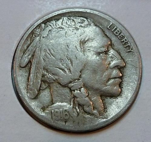 1916 P Very Fine Grade Buffalo Nickel  ( 4150 )