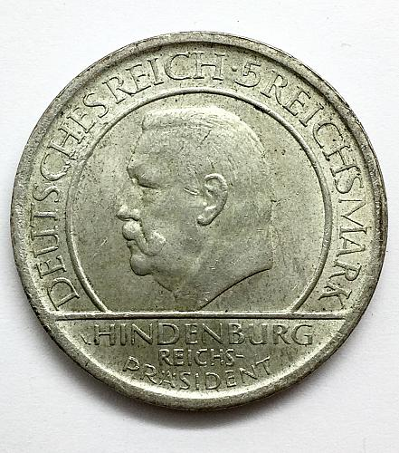 1929 A   5 Marks Germany - 10th Anniversary of Weimar Constitution