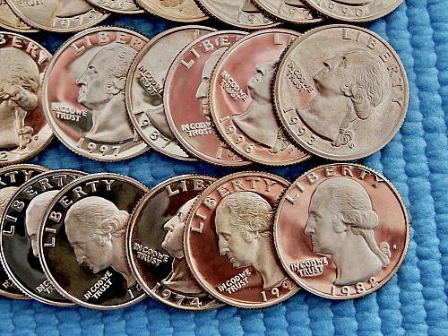 21 Different Proof Quarters ☆ 1972 thru 1996 ☆ Clad ☆  (#2216)a