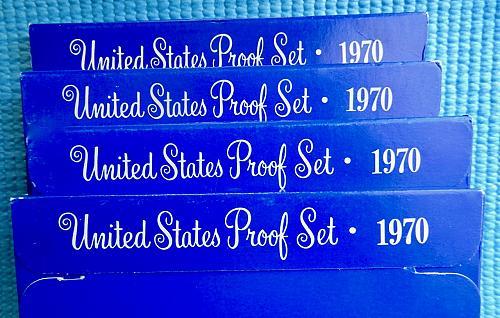 "1970-S Proof Set ☆ 40% Silver JFK Half ☆ ""PROOF"" ☆  (#9221)a"