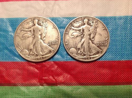 '42 San Francisco mint half dollars