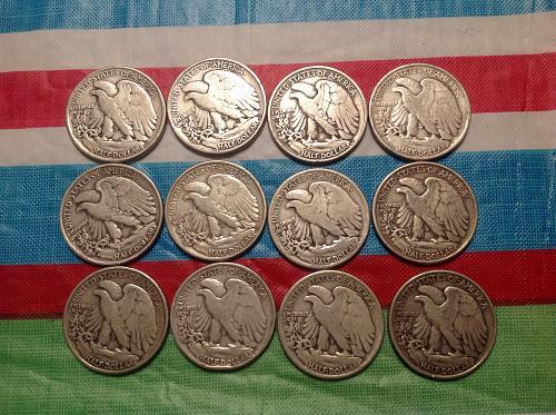 1943 Philly mint half dollars