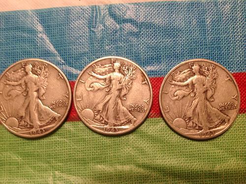 Denver mint half dollars '43