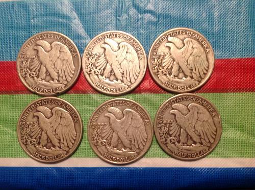 '45 Philly mint half dollars