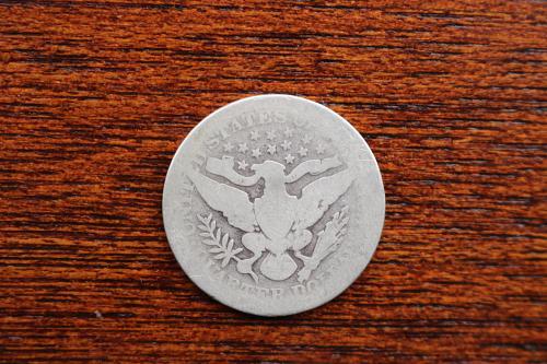 1904 Barber silver quarter