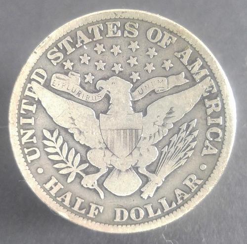 1913-P BARBER HALF DOLLAR