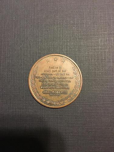 1973 LIBERTY BELL/ORAL ROBERTS BRONZE TOKEN