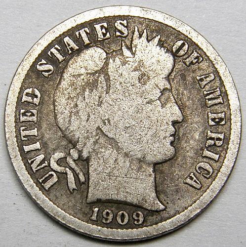 1909 P Barber Dime #1