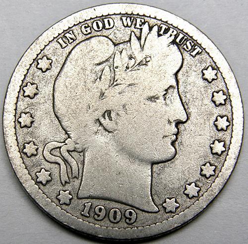 1909 P Barber Quarter #1