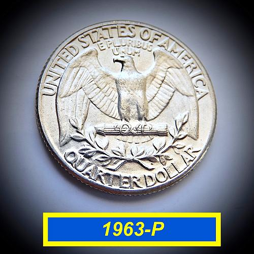 "1963-P Uncirculated SIlver Quarter ☆  ""MS-60""   ☆ (#2216)a"