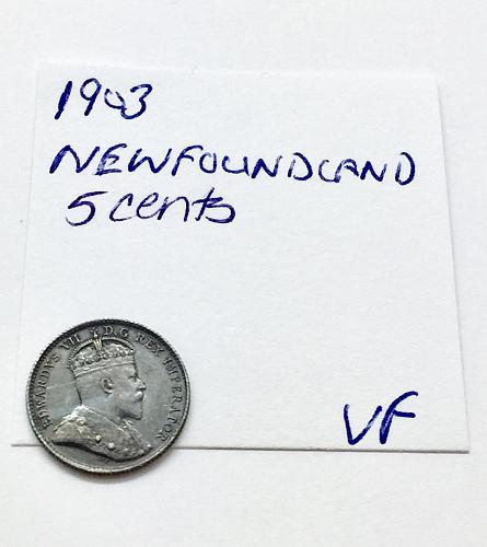 1903 5 Cents - Newfoundland - .925 Silver