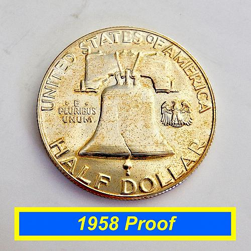 "1958 PROOF Half Dollar ☆  ""PR-62""   ☆ (#1239)a"