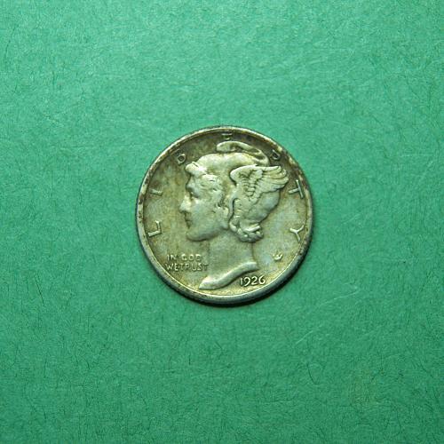 1926 D Mercury Dime XF Coin   q02