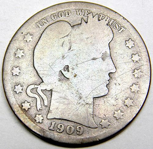 1909 P Barber Quarter #2