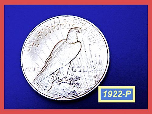 "1922 PEACE Dollar  ☆ ""AU-53""    ☆   (#5393aa)a"