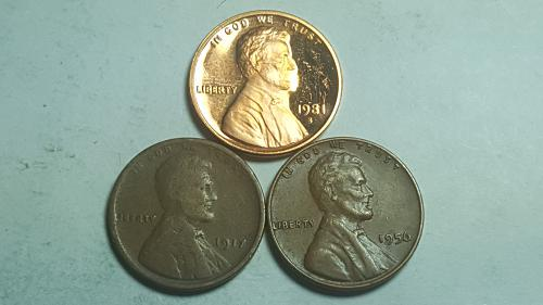 1981 S Proof Lincoln Cent Type1 Filled S Deep Cameo + (2) Lincoln Wheat Penny