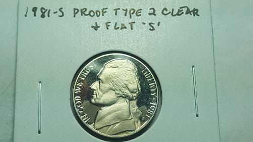"1981-S Proof Jefferson Nickel Type 2 Clear & Flat ""S"" Deep Cameo BU"