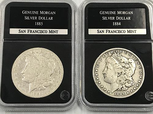 """First 8 """"S"""" Mint Morgan Dollars  1978-S through 1879-S Slabbed"""