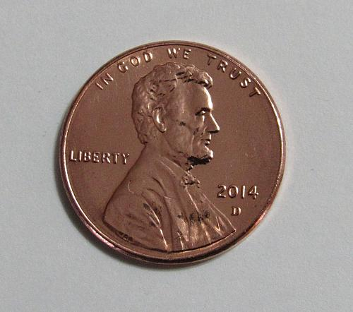 2014-D 1 Cent - Lincoln Shield Cent