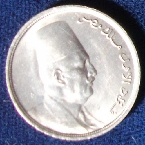 1924 Egypt 5 Milliemes AU