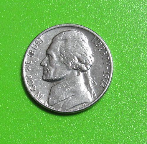 1972 5 Cent - Jefferson Nickel