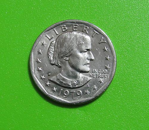 1979-P $1 - Susan B. Anthony Dollar Coin - Narrow Rim