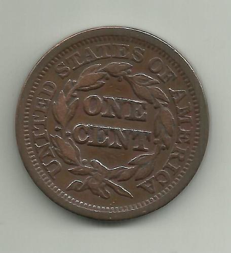 1847 P BRAIDED HAIR LIBERTY HEAD LARGE CENT