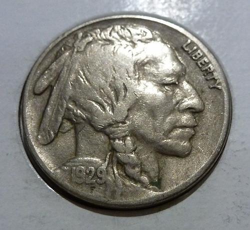 1929 S  Full Very Fine Buffalo Nickel #4214