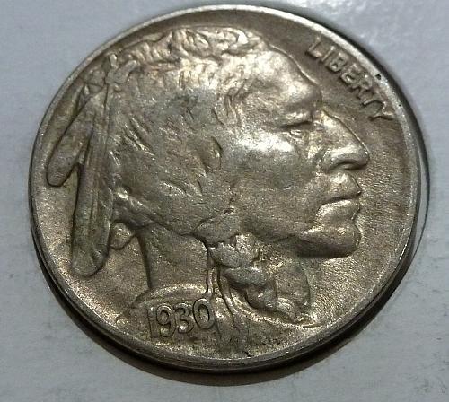 1930 P Full Extra Fine Buffalo Nickel #4215