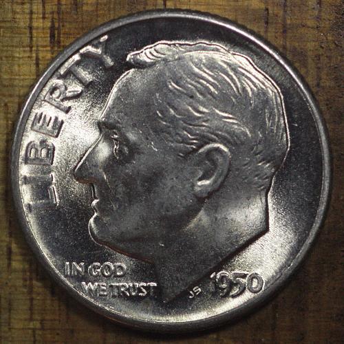 1950 D  Nice Choice BU Roosevelt Dime