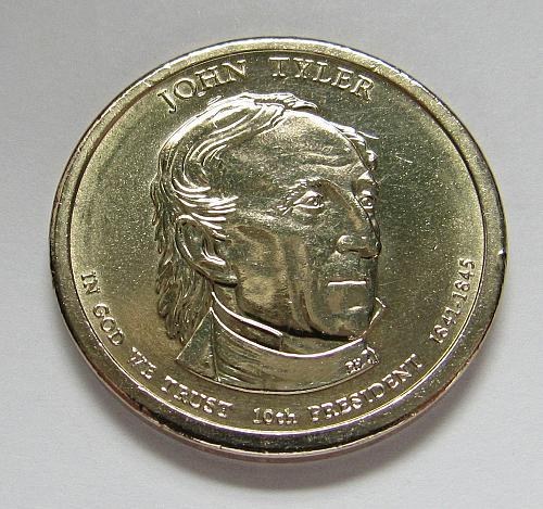 2009-P $1 - John Tyler Presidential Dollar Coin - Position A