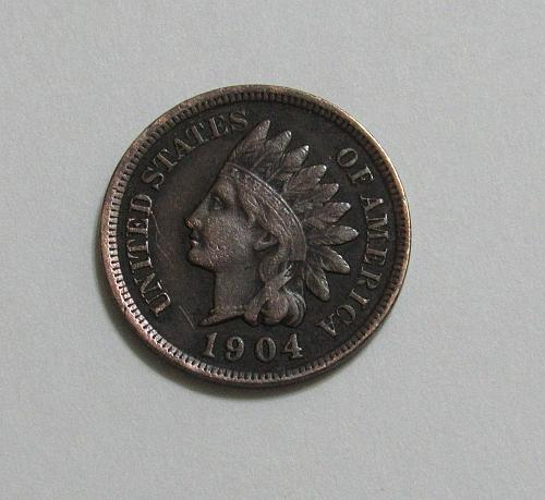 "1904 1 Cent - Indian Head Cent - ""Liberty"" is Readable on Headband"