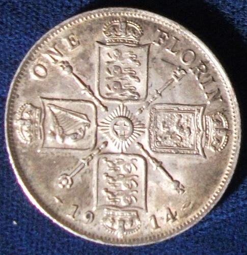 1914 Great Britain Florin XF