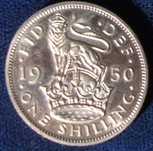1950 Great Britain Shilling Proof