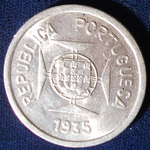 1935 India/Portuguese Rupia AU Details