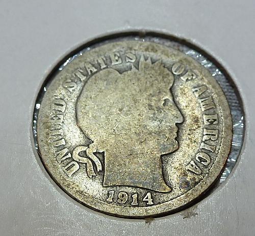 1914-D Barber Dime (4054)
