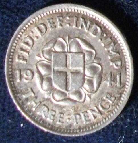 1941 Great Britain Threepence XF #2