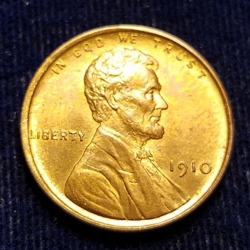 1910 CHOICE BU LINCOLN CENT