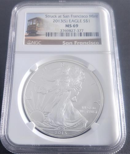 2013  S American Silver Eagle Bullion Coins: Proof