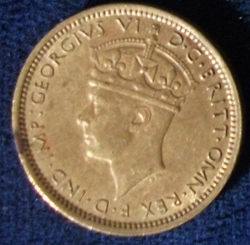 1942 British West Africa Sixpence AU