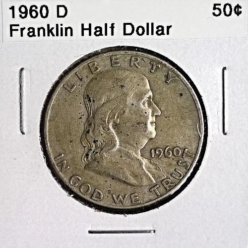 1960 D Franklin Half Dollar - 6 Photos!